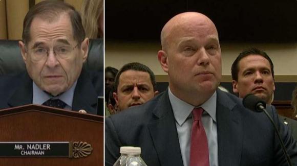Democratic Chairman Jerry Nadler presses Acting Attorney General Matthew Whitaker