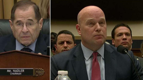 Democratic Chairman Jerry Nadler presses Acting Attorney General Matthew Whitaker