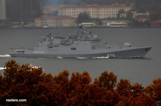 The Russian Navy's frigate Admiral Grigorovich