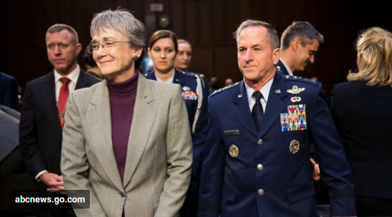 Secretary of the United States Air Force Heather Wilson and Chief of Staff of the Air Force Gen. David Goldfein