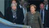 British Prime Minister Theresa May (L) and German Chancellor Angela Merkel