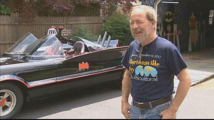 Bill Gibson, who drives a 1966 Batmobile replica,