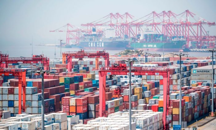 A general view of at the Yangshan Deep-Water Port in Shanghai, China