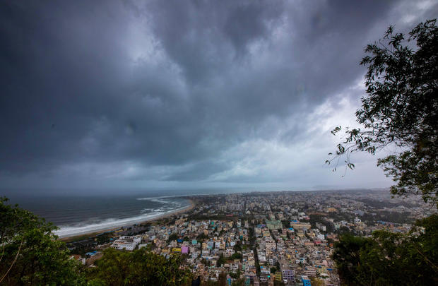 Clouds loom ahead of cyclone Fani in Visakhapatnam,