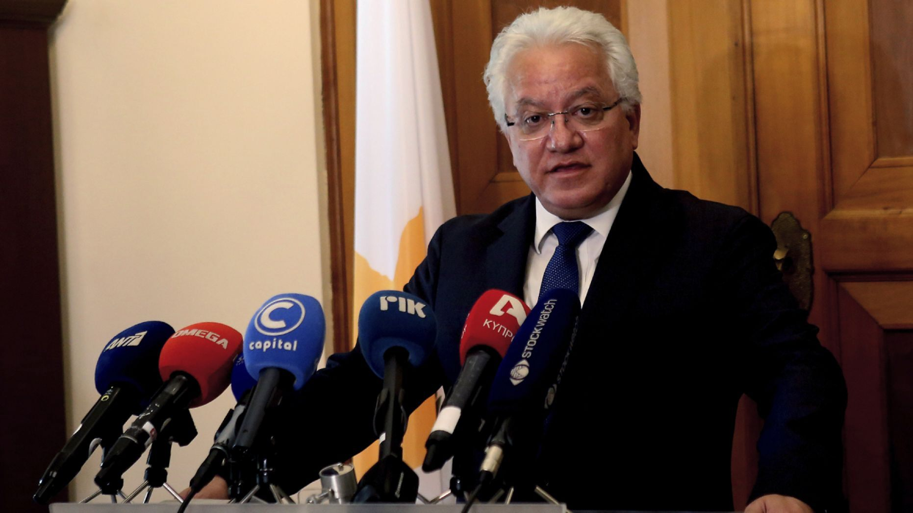 Cyprus' Justice Minister Ioanas Nicolaou