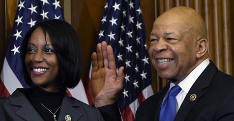 Rep. Elijah Cummings His wife, Maya Rockeymoore,