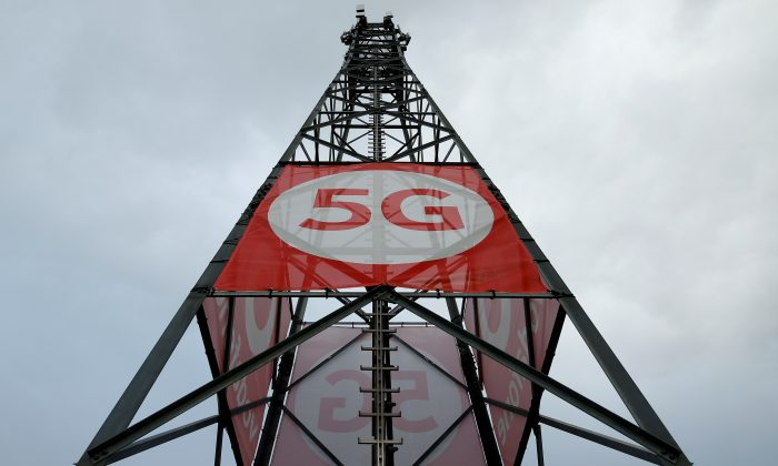 A mobile phone mast with 5G technology