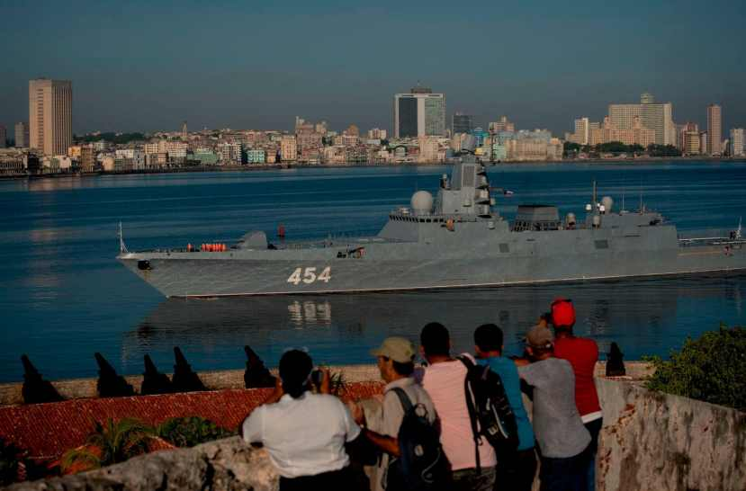 Russian Navy Admiral Gorshkov frigate arrives at the port of Havana, Cuba,