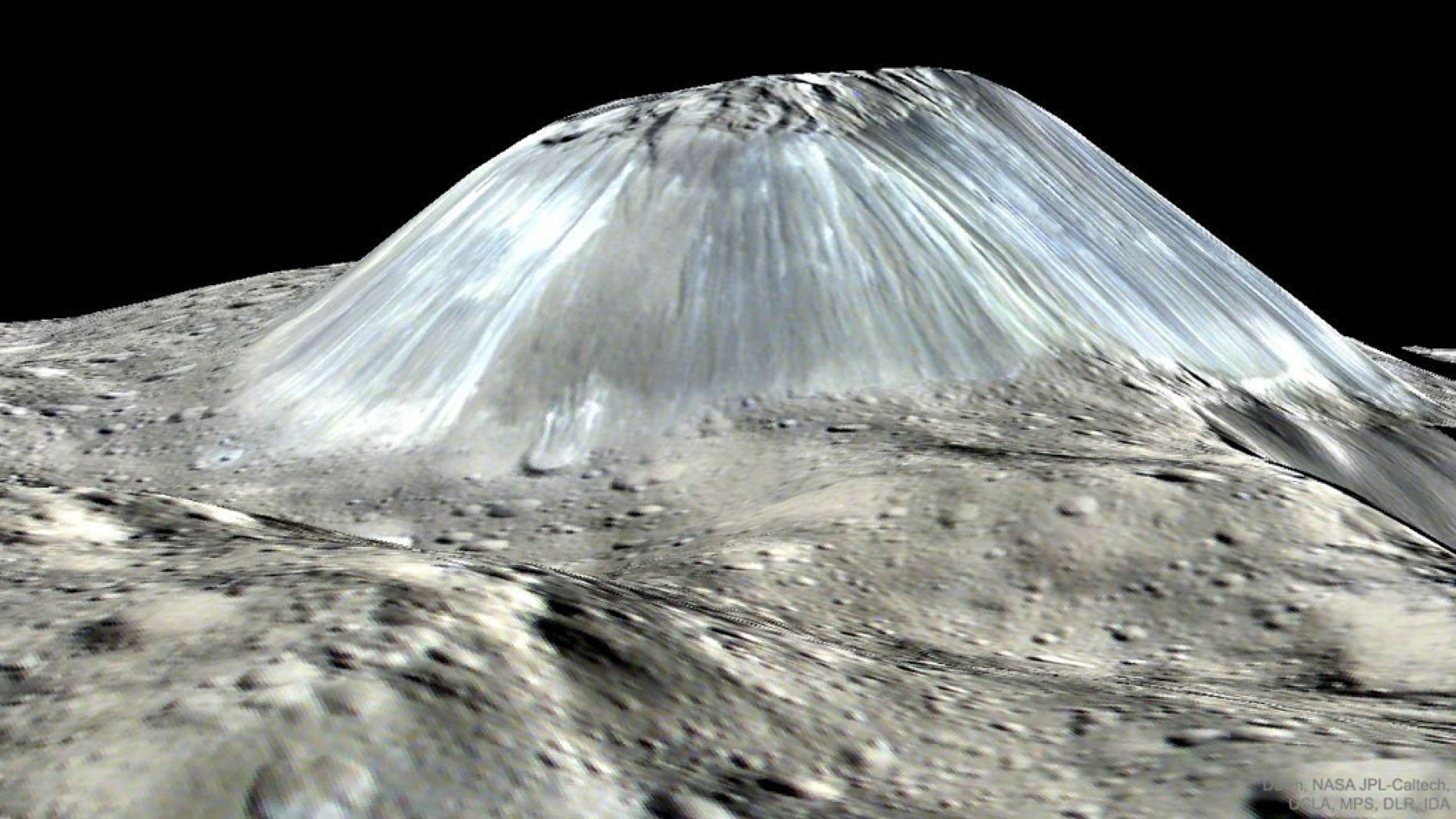 Ahuna Mons on Asteroid Ceres