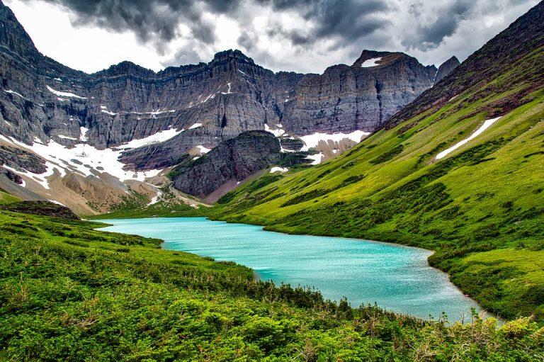 Montana Glacier National Park Mountains Cracker Lake