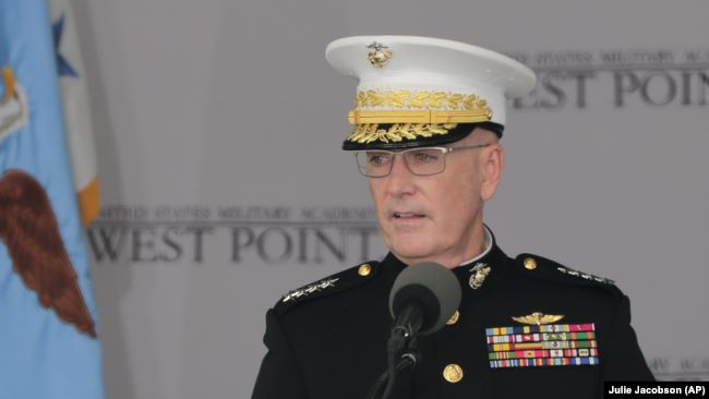 Marine General Joseph Dunford, the chairman of the U.S. Joint Chiefs of Staff (file photo)