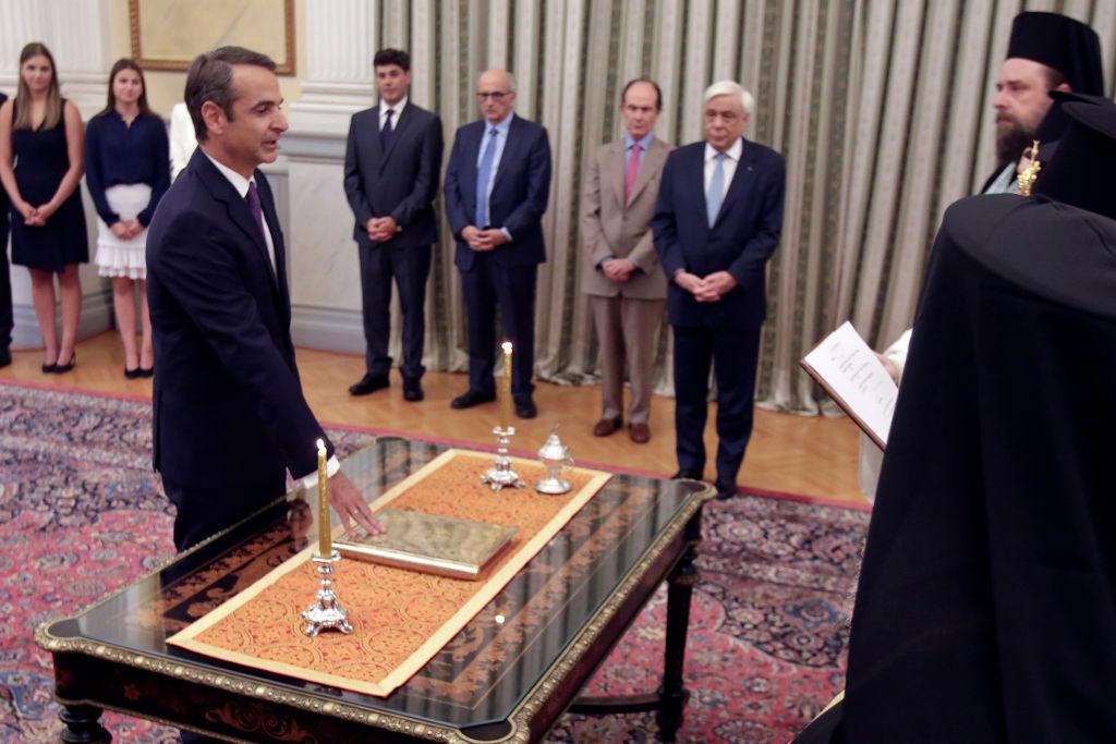 Greece's new prime minister, Kyriakos Mitsotakis,