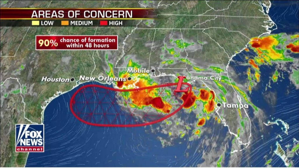 Barry is expected to form into a tropical storm by Thursday night. (Fox News)