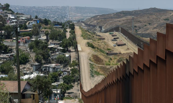 View of the Mexico-US wall in Tijuana, Baja California, Mexico on June 18, 2019.