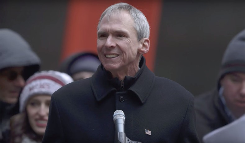 Congressman Dan Lipinski (D, Ill.) speaks at the March for Life in Chicago.