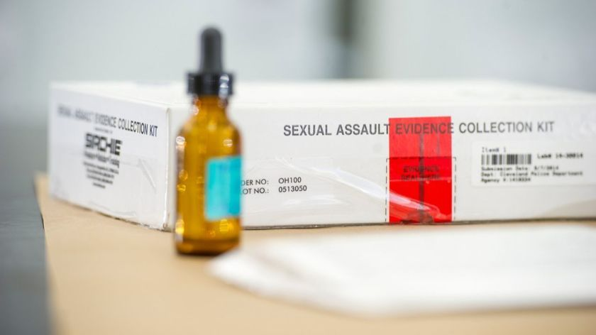 A rape evidence collection kit.