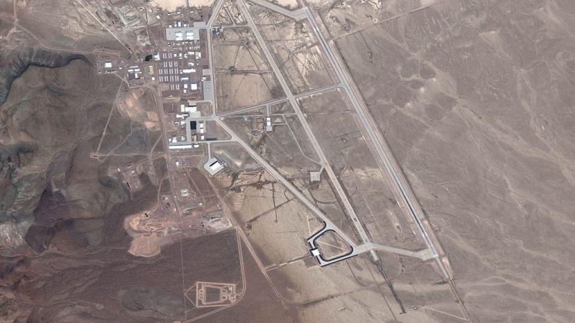 DigitalGlobe satellite image Area 51
