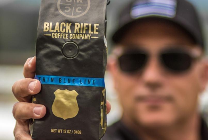 "Black Rifle Coffee Company's ""Thin Blue Line"" series. (Black Rifle Coffee Company/Facebook)"