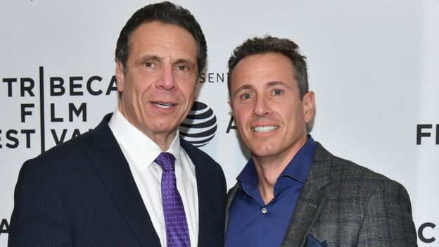 Chris Cuomo and his brother, New York Governor Andrew Cuomo.