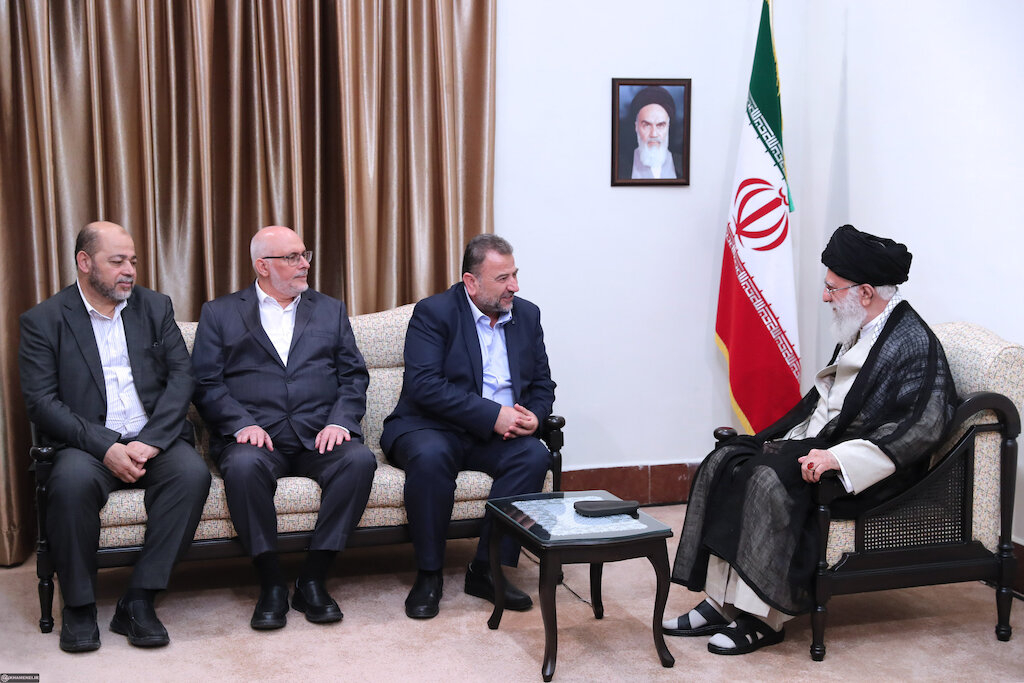 A senior Hamas delegation, headed by military leader Saleh Arouri, visited Iran and met with Supreme Leader Ayatollah Ali Khamenei on July 22.