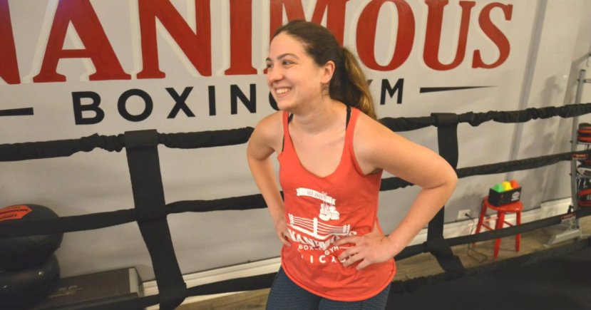 Claire Quinn trains at Unanimous Boxing Gym, 2764 N. Milwaukee Ave., in Logan Square. Her boxing record for the 2019 year is 6-0.
