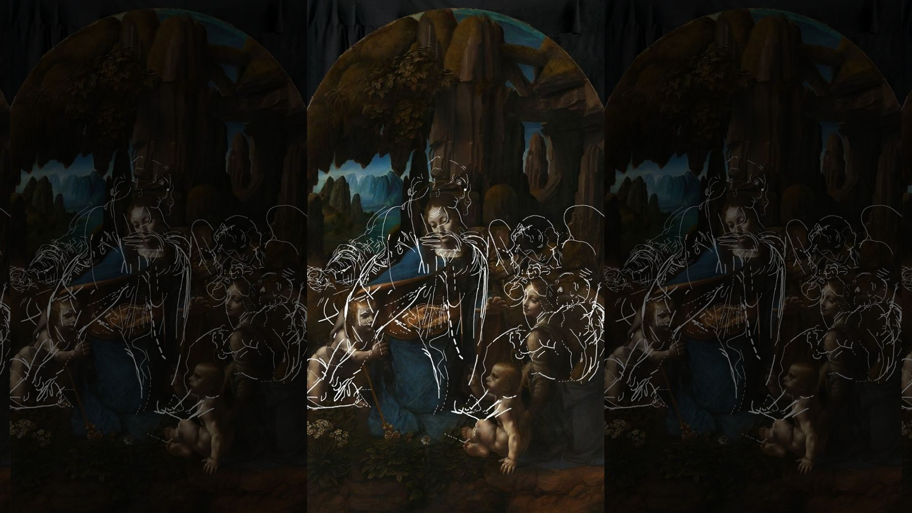 """Leonardo da Vinci's """"The Virgin of the Rocks"""","""
