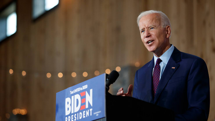 Democratic presidential candidate and former U.S. Vice President Joe Biden