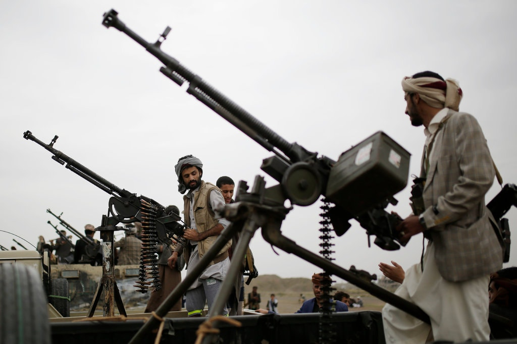 Houthi rebel fighters in Sana, Yemen, in August.