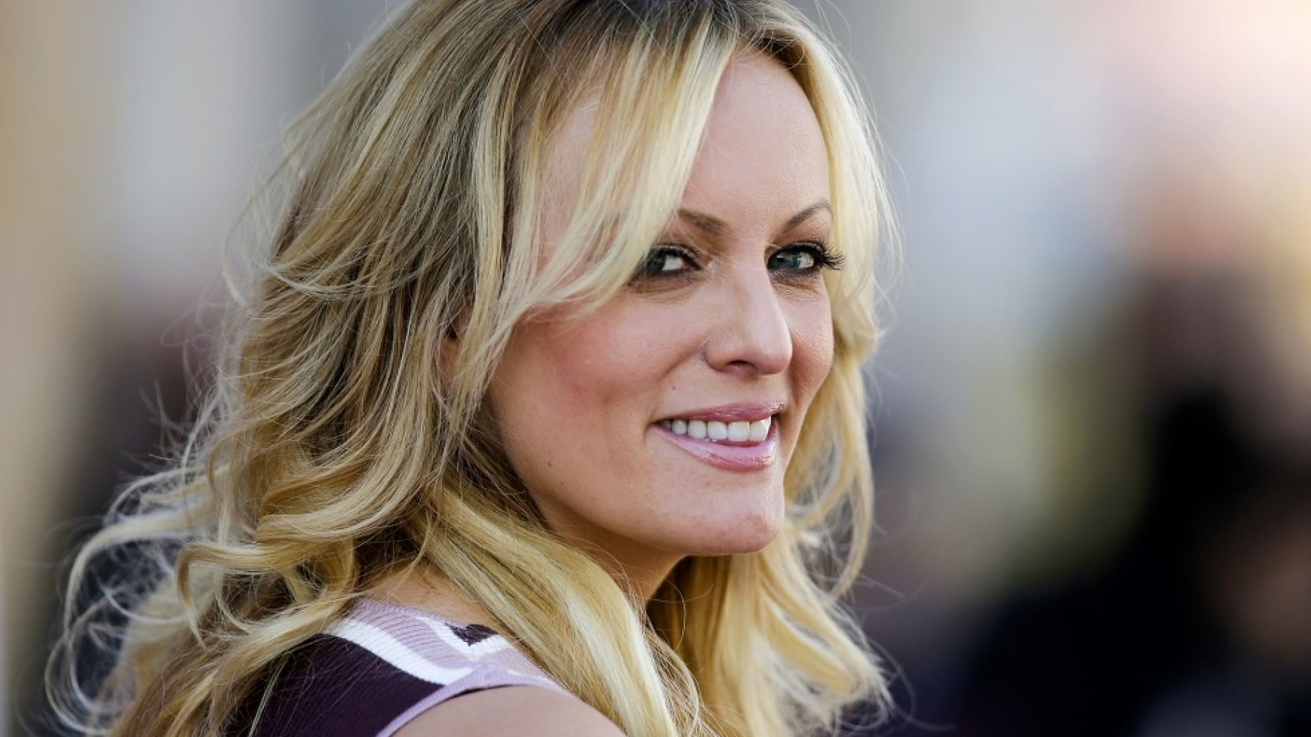 Adult film actress Stormy Daniels attends the opening of an adult entertainment fair in Berlin last year.