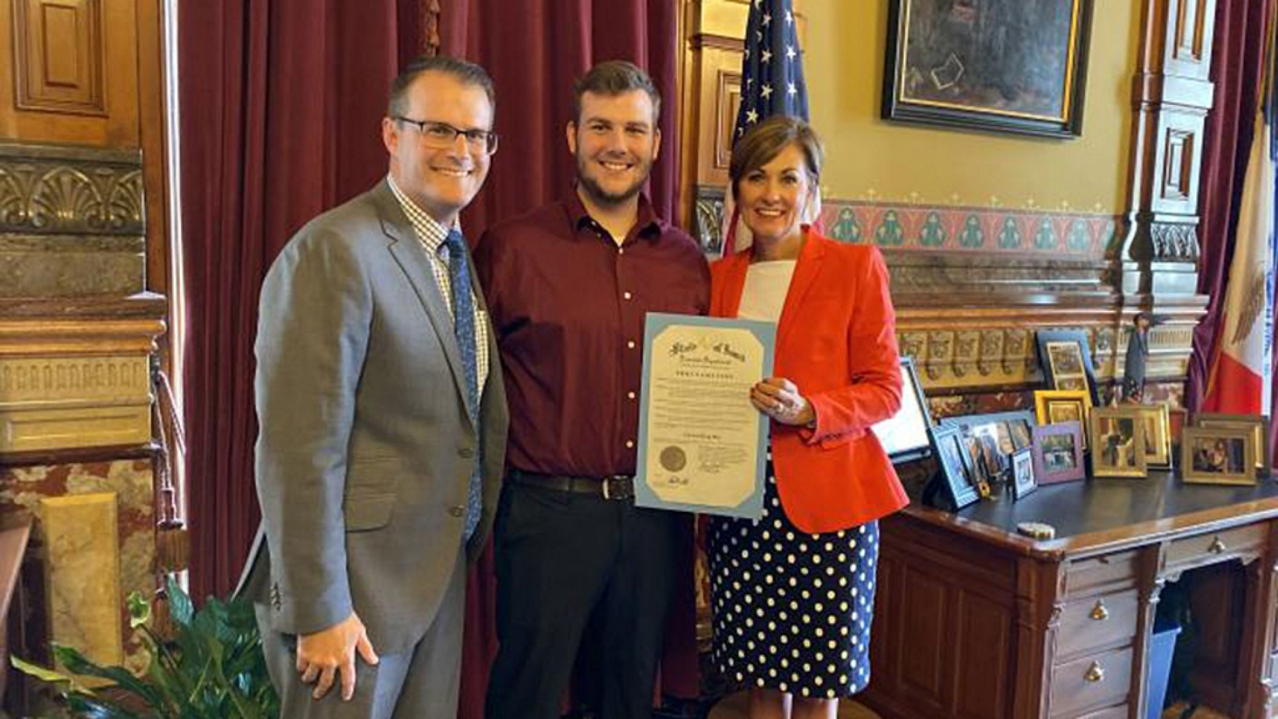 "Saturday, Sept. 28, 2019, is ""Carson King Day"" in Iowa."