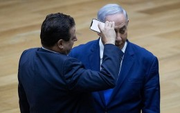 Joint List party leader Ayman Odeh filming Prime Minister Benjamin Netanyahu