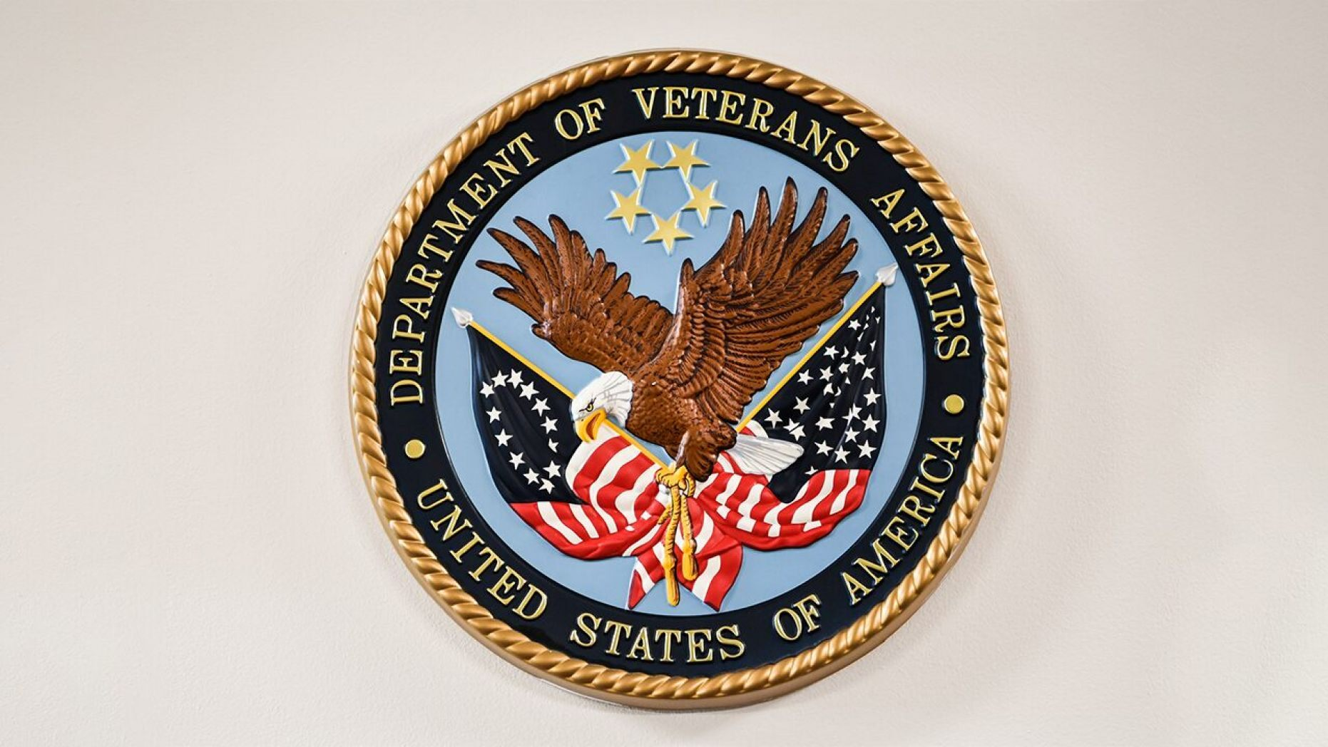 Logo of the Department of Veterans Affairs.