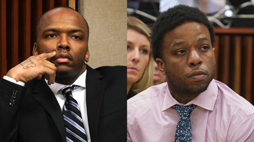 From left to right: Dwright Doty and Corey Morgan appear during opening statements in each of their separate trials