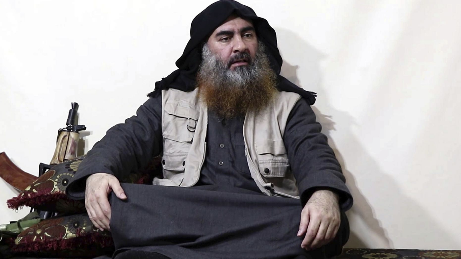 The blast from al-Baghdadi's suicide collapsed part of the tunnel he had fled down, leaving his mutilated remains buried underneath a pile of rubble.