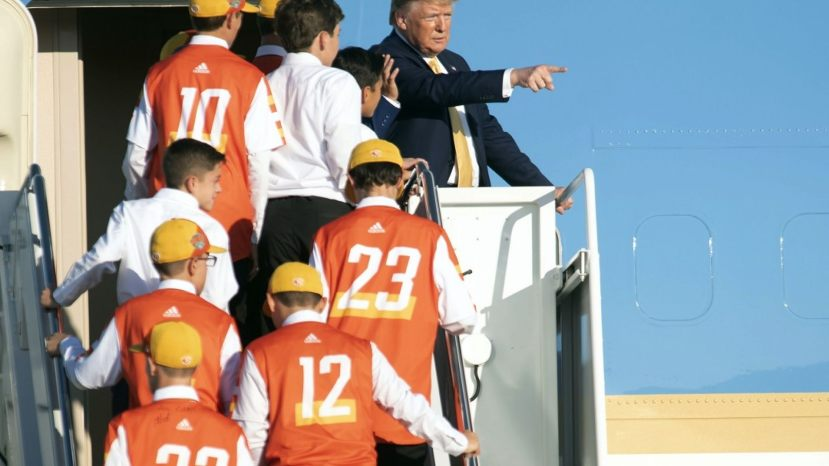 President Trump board Air Force One with the champs on Friday.