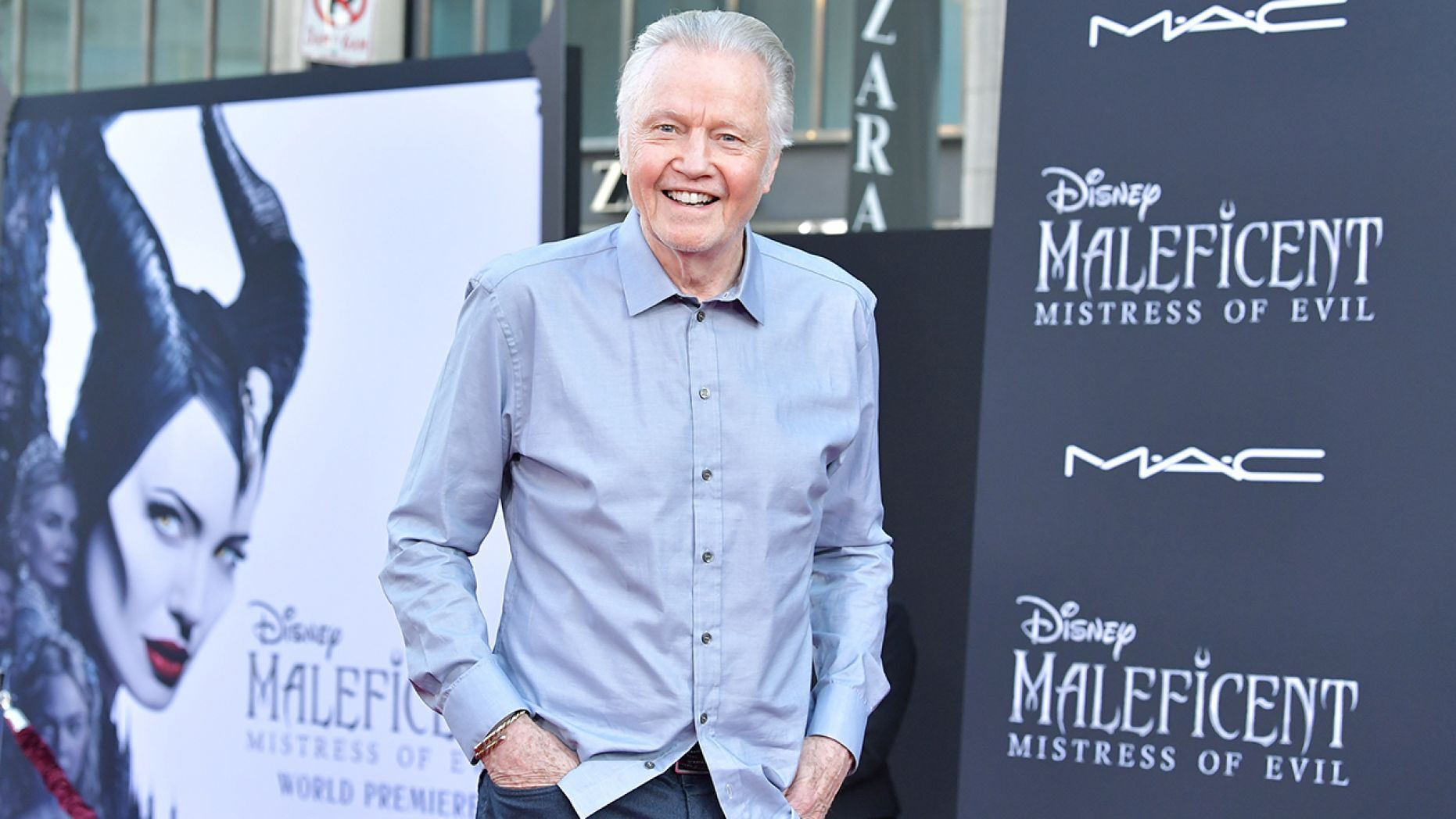 "Jon Voight freely talked politics while attending the World Premiere of Disney's ""Maleficent: Mistress Of Evil"" at El Capitan Theatre on September 30, 2019 in Los Angeles, California."