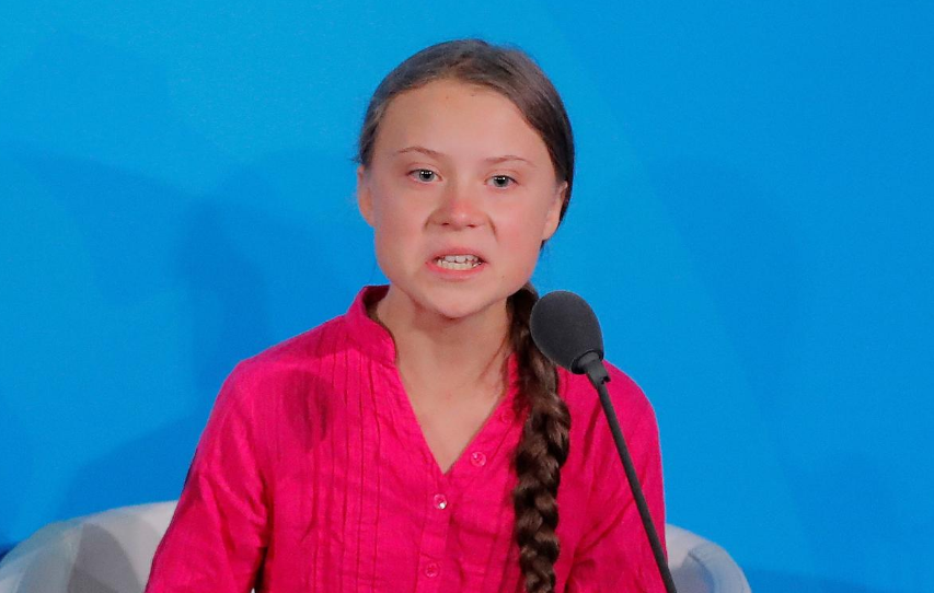 FILE PHOTO: 16-year-old Swedish climate activist Greta Thunberg speaks at the 2019 United Nations Climate Action Summit at U.N. headquarters in New York City, New York, U.S., September 23, 2019.