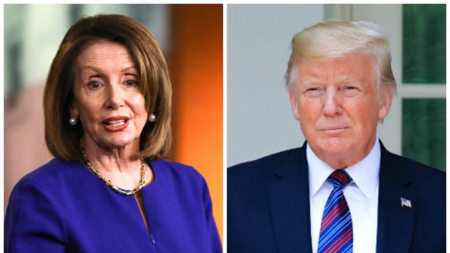 House Speaker Nancy Pelosi (L) and President Donald Trump.