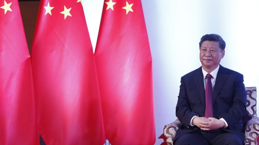 Chinese President Xi Jinping, waits for a bilateral meeting in Kathmandu, Nepal, Sunday, Oct. 13, 2019.
