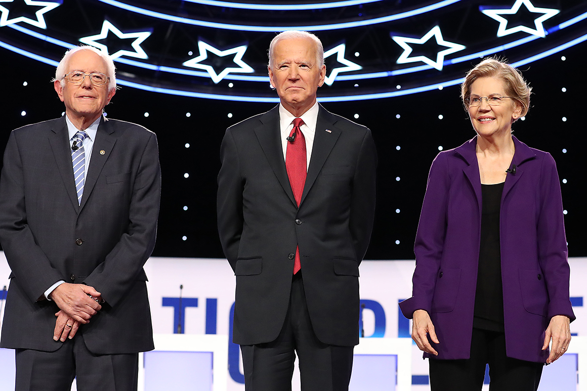 Six Democratic White House contenders, including Vermont Sen. Bernie Sanders, former Vice President Joe Biden and Massachusetts Sen. Elizabeth Warren, have qualified for the December debate.