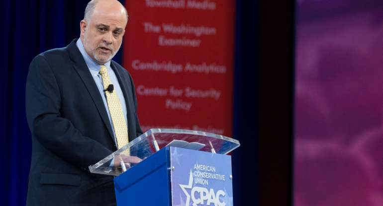 Conservative radio show host Mark Levin speaks during the annual Conservative Political Action Conference (CPAC)
