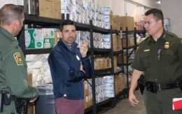 Acting DHS Secretary Chad Wolf tours a migrant facility in Texas.