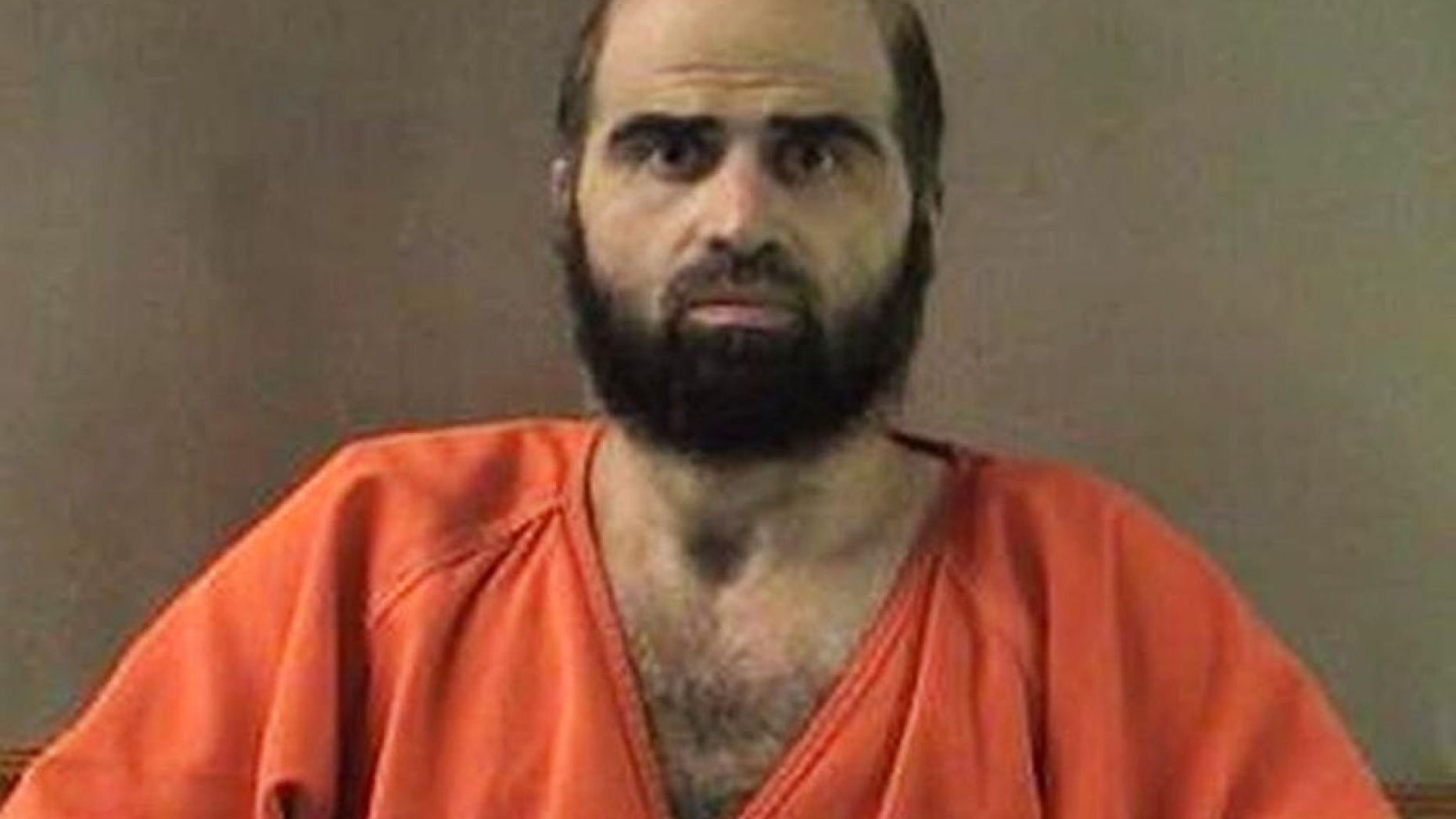 This undated file photo provided by the Bell County Sheriff's Department shows former Army psychiatrist Maj. Nidal Hasan. Hasan, who killed 13 people in a 2009 shooting spree at a Texas Army base, has a court hearing in his case Thursday, Jan. 29, 2015 at Fort Leavenworth, Kansas, where he is being held on the military death row.
