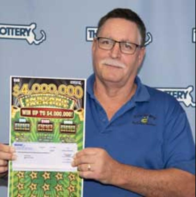 A Massachusetts man won two $1 million jackpots from scratch-off lottery tickets within 18 months of each other. Photo courtesy of the Massachusetts State Lottery.