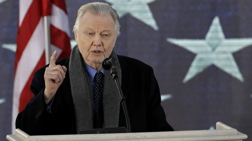 "Actor Jon Voight speaks during a pre-Inaugural ""Make America Great Again! Welcome Celebration"" at the Lincoln Memorial in Washington, Thursday, Jan. 19, 2017."