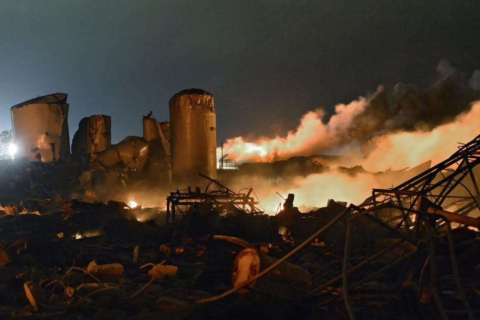 Firefighters were attempting to put out a blaze at a fertilizer plant in West, Texas, when it exploded, killing 15 people April 17, 2013.