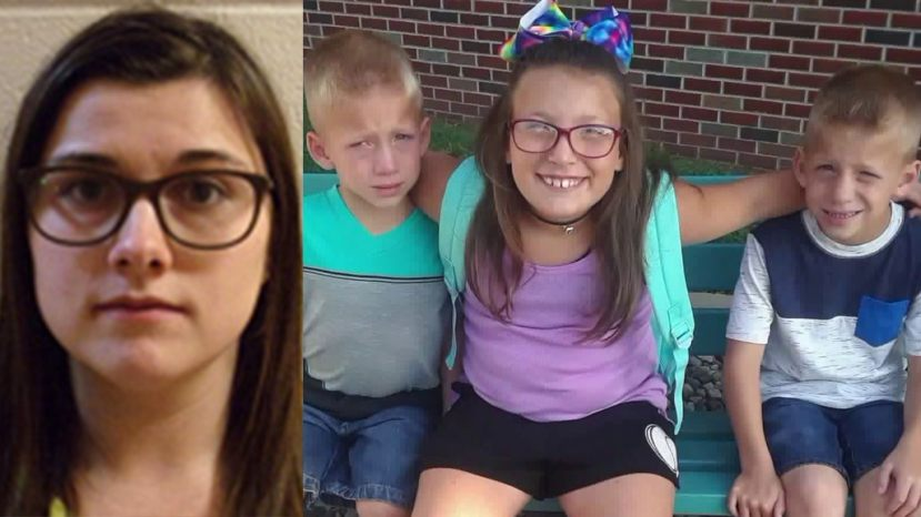 Alyssa Shepherd, 25, was sentenced to four years in prison on Wednesday for killing twins Xzavier and Mason Ingle, 6, and their sister, Alivia Stahl, 9, in 2018.