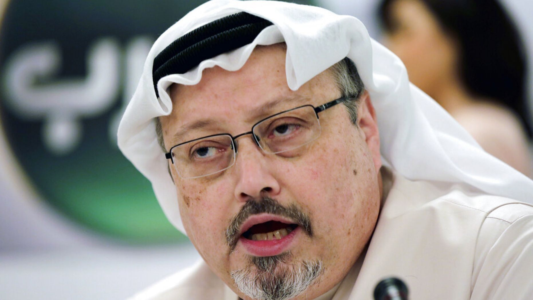 In this Dec. 15, 2014, file photo, Saudi journalist Jamal Khashoggi speaks during a news conference in Manama, Bahrain.
