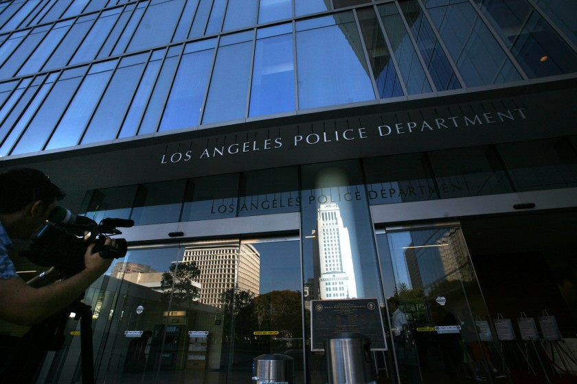 An LAPD officer was placed on leave after his body-worn video camera allegedly showed he fondled the breasts on a female corpse