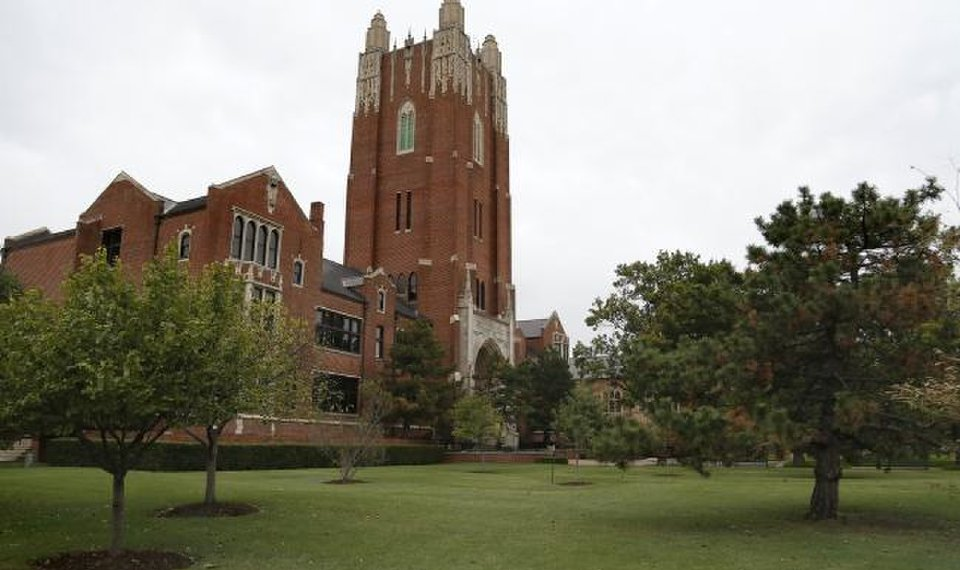 The administration building is pictured on the campus of Oklahoma City University in 2016.